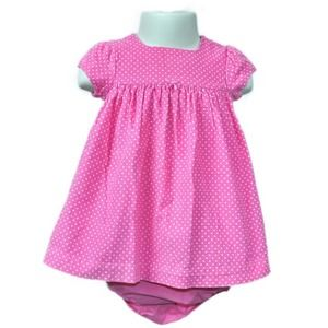 Carter's Pink Polka Dot Dress Set with Bloomers 6M